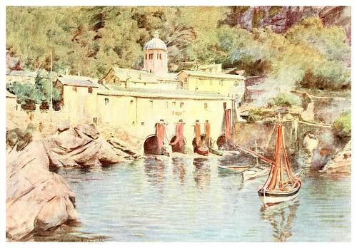 002-San Fruttuoso-An artist in the Riviera (1915)-Walter Tyndale