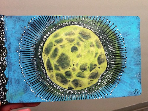 Moleskine Sketchbook Exchange - It's the moon!