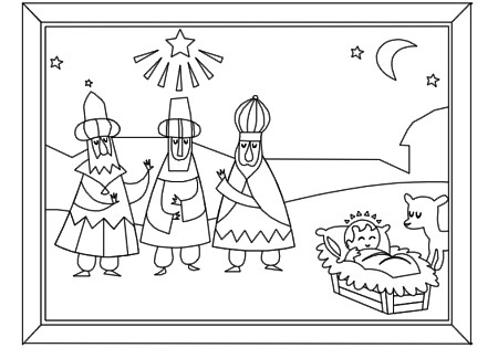 Away In A Manger Coloring Page Christmas Activity Colo Flickr