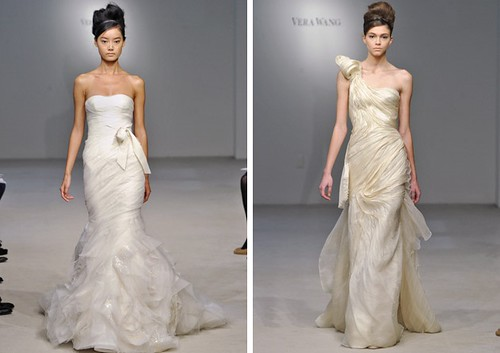 These asymmetrical designs make each elegant wedding gown become more