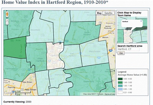 Home Value Index in Hartford Region, 1910