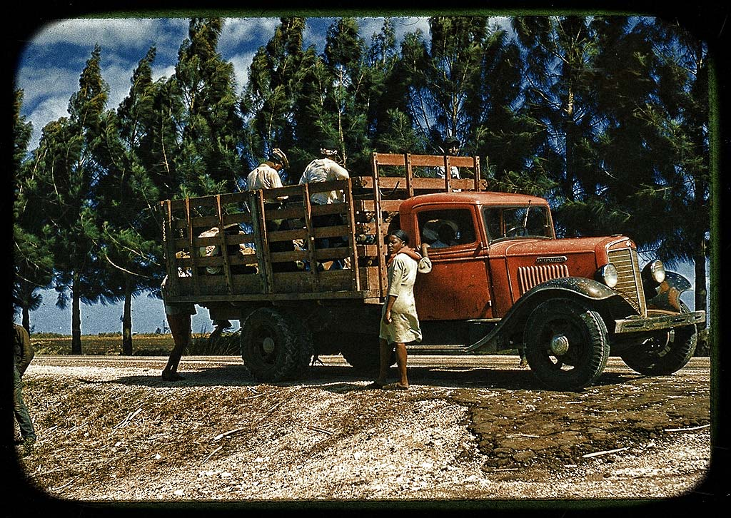 Transporting Farm Workers in Southern Mississippi - Summer, 1940