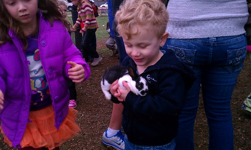 Isaac at the petting zoo by jbellis