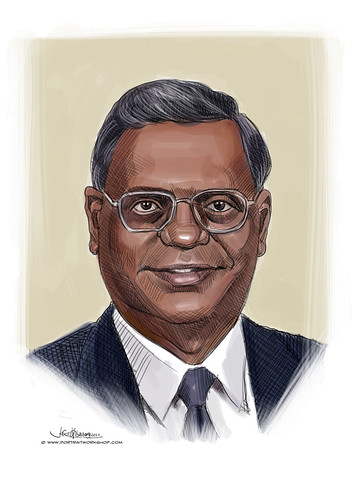 digital portrait of S Rajendran