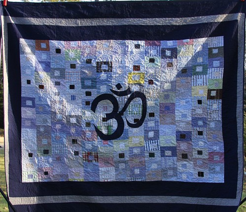 Recycled fabric OM custom quilt!