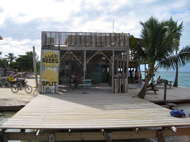 bar and restaurant at the split caye caulker belize