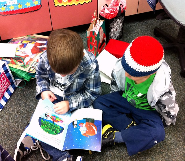 Angry Kid reading to a friend