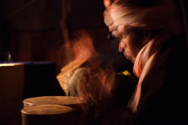 Maroc 2011 - Musique - Sous la tente Berbère