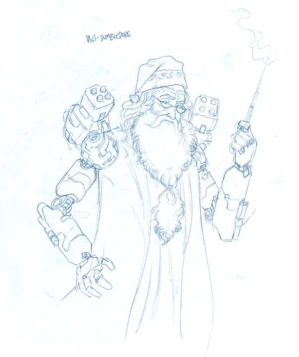 sketch dumbledore