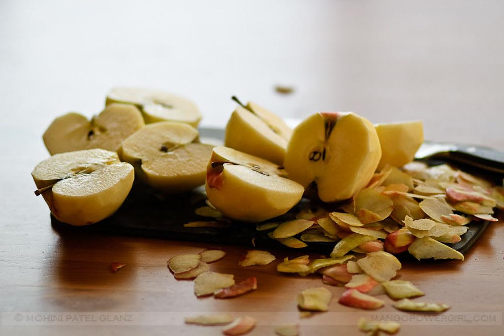 Chopping Honeycrisp Apples