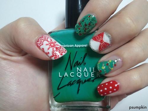 2011 Christmas Nails
