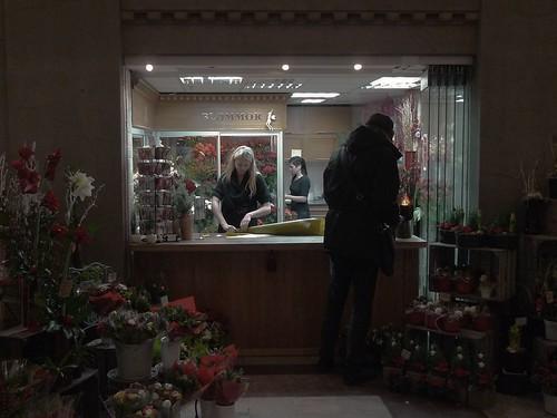 Blommor på Centralen