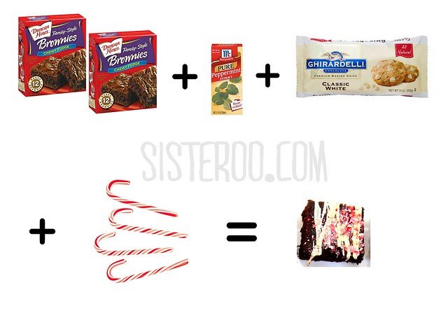 Peppermint Brownies tutorial