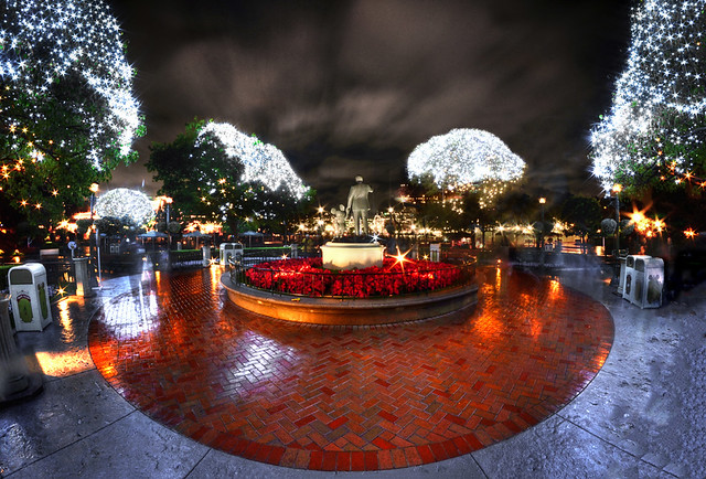 A Fish Eyed View Of Christmas At Disneyland