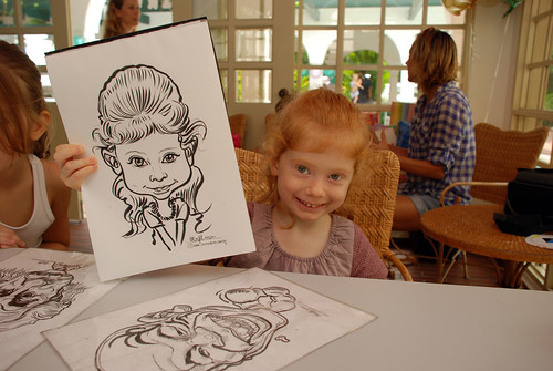 caricature live sketching for children birthday party 08 Oct 2011 - 4