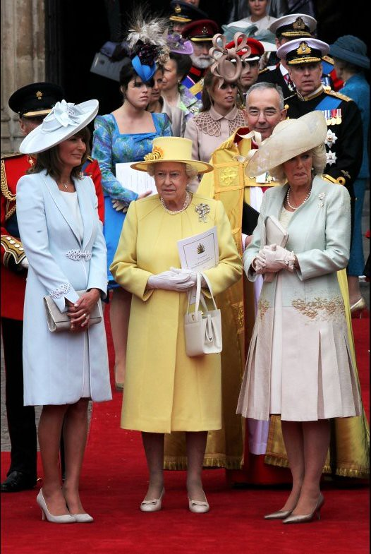 Carole Middleton, Queen Elizabeth II & Camilla, Duchess of Cornwall (Royal Wedding)
