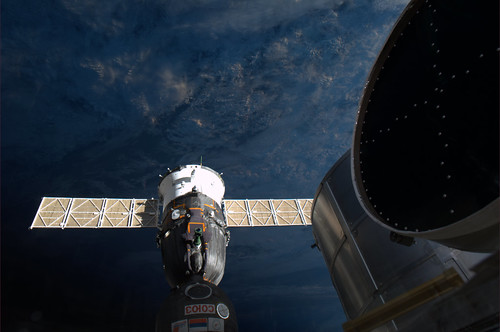 Our Soyuz docked to ISS