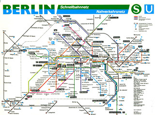 Berlin - S-Bahn and U-Bahn Map (1998)