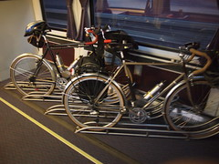 Bikes on Amtrak train