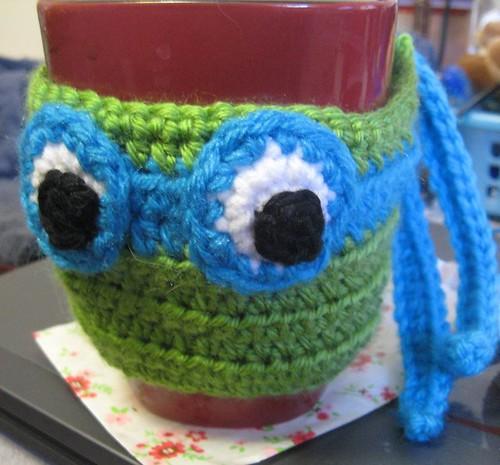 Leonardo Ninja Turtle Mug Cozy