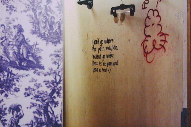 message in a dressing room