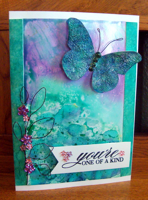 Lily Pad Chipboard Challenge - Card #1