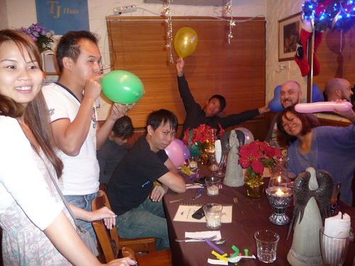 Kerol's surprise party @ TJ Haus - blowing balloons