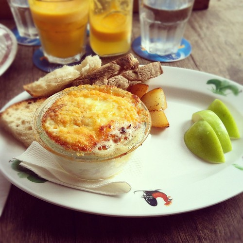 Baked Eggs with Toast Soldiers