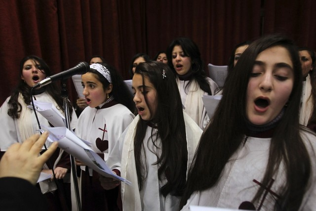 Iraqi Christian Girls Sing in Amman