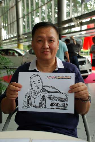 Caricature live sketching for Tan Chong Nissan Almera Soft Launch - Day 1 - 3