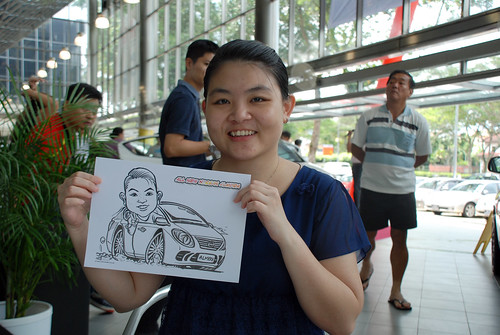 Caricature live sketching for Tan Chong Nissan Almera Soft Launch - Day 1 - 20