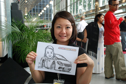 Caricature live sketching for Tan Chong Nissan Almera Soft Launch - Day 1 - 40