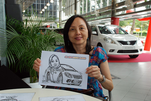 Caricature live sketching for Tan Chong Nissan Almera Soft Launch - Day 2 - 19