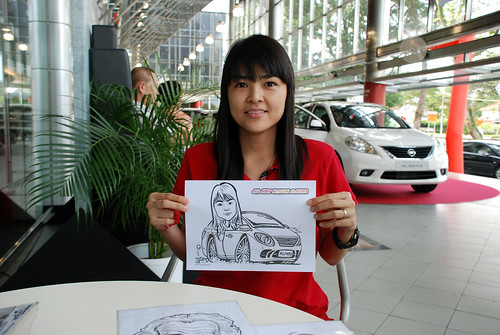 Caricature live sketching for Tan Chong Nissan Almera Soft Launch - Day 2 - 34
