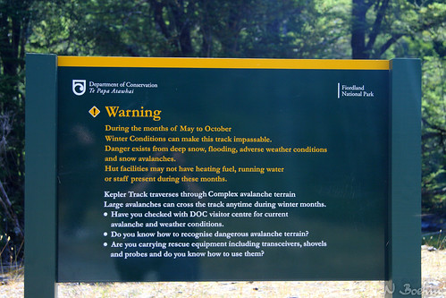 Kepler Track warning