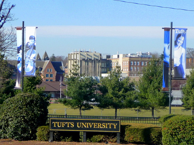 Tufts neighborhood - Triangle Park Tufts University, Somerville, MA