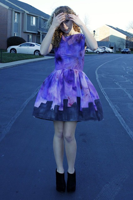 Hand-painted City Sky Dress