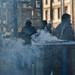 Der Aschenbecher raucht und stinkt