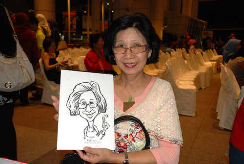 caricature live sketching for kidsREAD Volunteer Appreciation Day 2011 - 16