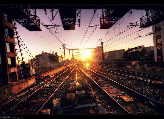 sunset on rails