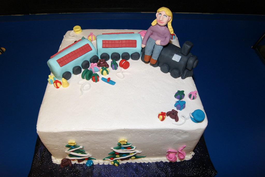 Wondrous Polar Express Birthday Cake Eileen Brown Flickr Funny Birthday Cards Online Fluifree Goldxyz