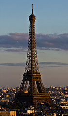 Eiffel Tower In Afternoon Sun