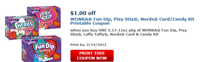 One Of Wonka Fun Dip, Pixy Stix, Laffy Taffy, Nerds Card & Candy Kit,  5.17-12oz Pkg Coupon