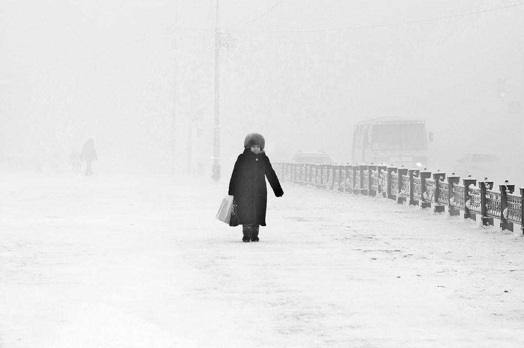 Yakutsk. Minus 50 degrees Celcius