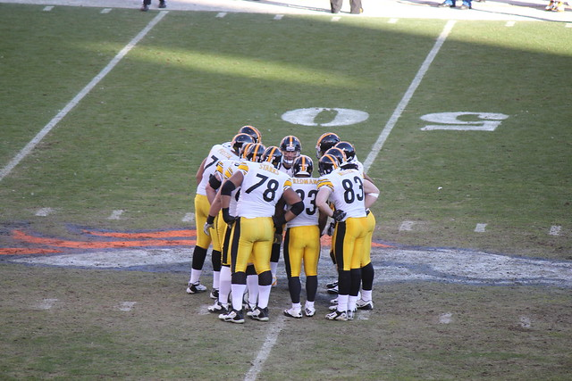 Steelers Huddle from Flickr via Wylio