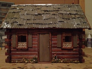 Progress on Crockett log cabin