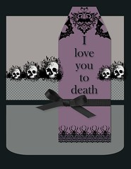Goth Valentine's Day Card