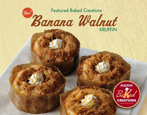 KRISPY KREME Banana Walnut Kruffin