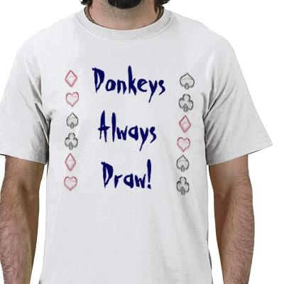 donkeys always draw