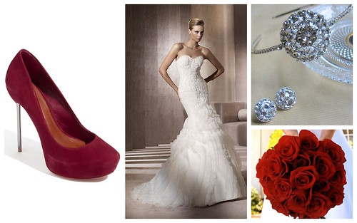 {Gorgeous & Modern Red} Bridal Style by Nina Renee Designs
